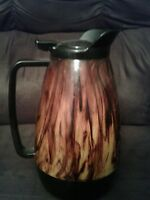 Vintage WEST BEND Brown Thermo-Serv Insulated COFFEE POT Carafe Server