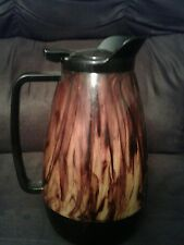 Vintage WEST BEND Red Marbled Thermo-Serv Insulated COFFEE POT Carafe Server