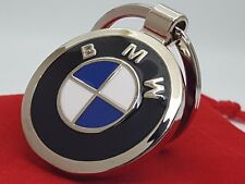 BMW Beemer Double Sided Car Logo Metal Keyring with Red Velvet Gift Pouch [S1DB]