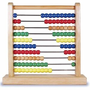 Melissa And Doug Wooden Classic Toy Abacus NEW Traditional Toys