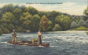 Float Scene Fishing in the OZARKS USA 1930-45 Ozark Post Card Publishers