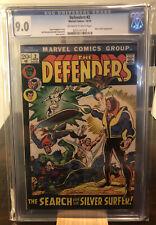 Defenders #2 CGC 9.0 - Marvel Comics - Silver Surfer