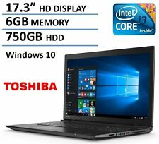 "17.3"" Toshiba C75-C7130 HD+ Laptop- Intel i3-5005U, 6G, 750G, DVD, HDMI,Bluetoot"