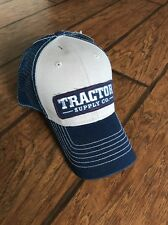 TSC Tractor Supply Company 1938 Blue Tan Embroidered SnapBack Hat Cap farm
