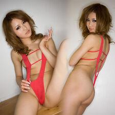 Sexy-Lingerie-Sleepwear-Women's-G-string-Dress-Cosplay-Underwear-Babydoll Red