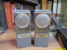 Vintage Tokai 2 way Radios transceiver 9 transistor Japan 2 serial 61458 61456