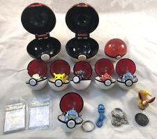 Lot of Pokemon Pokeball Keychain Collectible 1999 Figures & Balls