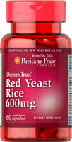 Puritan's Pride Red Yeast Rice 600 mg - 60 Capsules (Free Shipping)