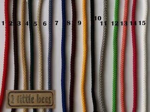 Strong Cord Rope 5mm Drawstring Craft Lacing Braided Crochet Macrame String DIY