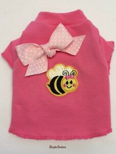 Bee Happy Dog T-Shirt Clothes XXXS-Medium by Doogie Couture