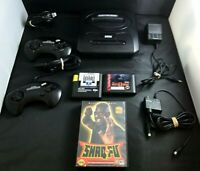 Vintage Sega Genesis Console Game Lot Of 8 Console MK-1631 Controllers 3 Games +
