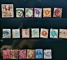 Very Nice Vintage Mixed Lot (19) Great Britain - United Kingdom Postage Stamps