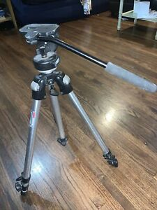 Bogen Manfrotto 3001N Pro Camera Support With Genuine Manfrotto 3126 Head, Italy