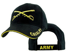 U.S. Army Cavalry Hat / Army Black Baseball Cap