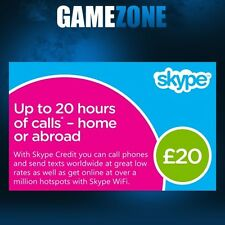 £20 Skype Credit Gift Card - UK £20 GBP Digital Card - United Kingdom