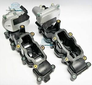 2x SAUGROHRKLAPPE 2.7  3.0 TDI V6 + STELLMOTOREN VW AUDI A4 A6 Q7 Verstärkt