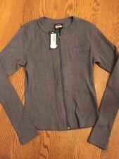 NWT Vintage HARLEY DAVIDSON Ladies Sweater Cardigan Zip Up Houlobek Small
