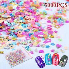 5000 Nail Art Glitter Mixed STAR Holographic 3D SHAPE Sequins Shining Decora@#*