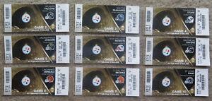 Pittsburgh Steelers 2011 Ticket stub lot Complete set including 1 preseason!!
