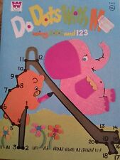 """Vintage Whitman """"Do Dots With Me"""" childrens educational/activity book"""