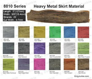SILICONE SKIRT TABS/MATERIAL - 8810 Heavy Metal Series