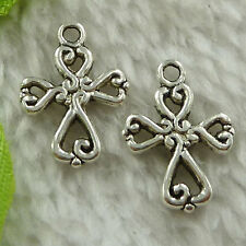free ship 336 pieces tibet silver cross charms 20x14mm #3593