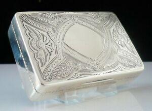 Large American Antique Silver Snuff Box, Wood & Hughes c.1870