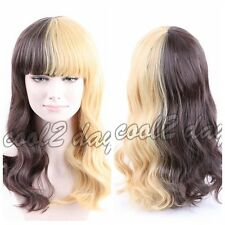 Fashion Melanie Martinez Wig Half Blonde And Off Black Culy Cosplay Wigs Women's