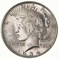 Raw 1934 Peace $1 Uncertified Ungraded US Mint Philadelphia Silver Dollar Coin