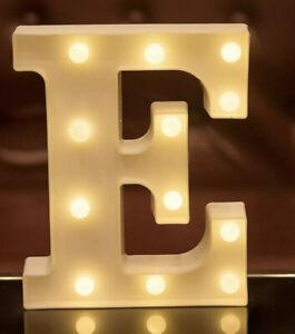 LED Letter Lights Alphabet Light Up Sign for Night Light Home Paled letter E