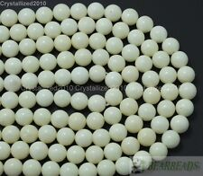 "Coral Blanco Natural Gemstone Redonda Bola Cuentas 6 mm 8 mm 10 mm 12 mm 14 mm 16 mm 16"""