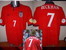 Inglaterra Beckham Xl Euro2000 Camisa Jersey Football Soccer Umbro Man Utd Copa Del Mundo