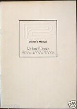 Roland KS-3500 KS-4000 KS-5000 Digital Piano Original Owner's Users Manual Book