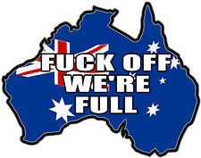 VINYL DECAL AUSTRALIAN MAP F...OFF WERE FULL Size apr 65mm by 51mm