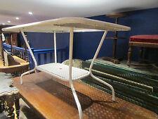 ancienne table chaises et fauteuils annees 1950 design vintage salon jardin fer