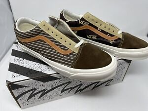 NEW Vans Vault OG Old Skool Lx Suede Canvas Brown Men's Size 12