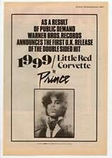 Prince 1991/Little Red Corvette Advert NME Cutting 1985