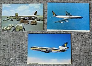 3 x British Caledonian Boeing 707 DC-10 Airliner Post Cards