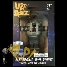 "LOST In SPACE B-9 Robot 11"" ELECTRONIC Figure Diamond Select LIGHTS & SOUND New!"