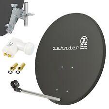 ZEHNDER Digitale SAT Anlage 80cm Satelliten Spiegel Schüssel + Twin LNB 0,1dB d