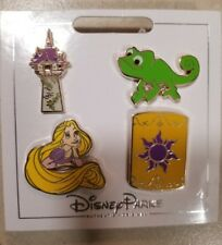 Disney Parks Authentic 2017 Rapunzel Tangled 4 Pin Themed Set on Card
