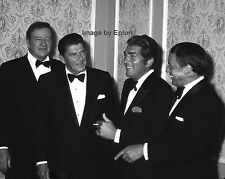 JOHN WAYNE, RONALD REAGAN, DEAN MARTIN & FRANK SINATRA 1977  8X10 PHOTO