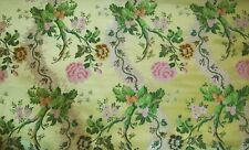 """Scalamandre Gold Lime Lampas Luis XV Silk Fabric 3yards 52""""wide Upholstery Pillo"""