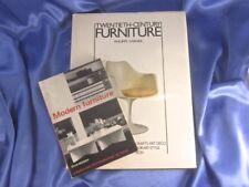 2 MID-CENTURY MODERN FURNITURE REFERENCE BKS 1980 MOODY & 1966 GARNER
