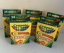 New 120 Crayola Crayons 5 Boxes/24 Each Retired Dandelion in Each