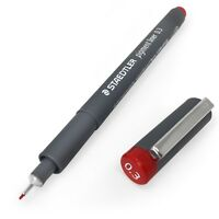 Staedtler 308 Pigment Liner Fineliner – 0.3mm – Single – Red