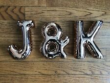 """New listing 6"""" Rose Gold 'Balloon' Letters """"J & K"""" - Weighted Decorations"""