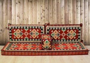 Kilim Pattern Floor Cushion Covers Ethnic Arabic Oriental Pillow Sofa Couch Set