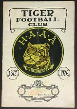 1926 Hamilton Amateur Athletic Association Tiger Football Club Program Rare CFL