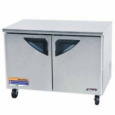 Turbo Air TUF-48SD-N 2 Solid Doors Undercounter Freezer